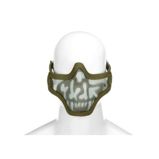 Steel Half Face Mask Death Head